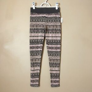 Free People Leggings XS New Pink/Rose Geo Pattern